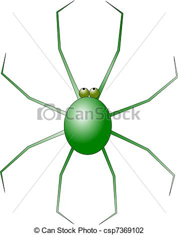 Green spider Vector Clipart Royalty Free. 822 Green spider clip.