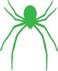 Green Spider Clipart.
