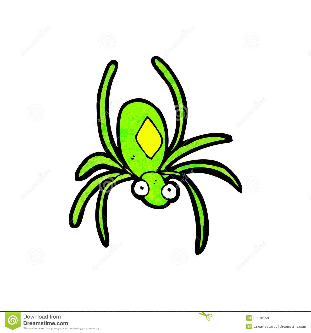 Cartoon Radioactive Spider Stock Photos.