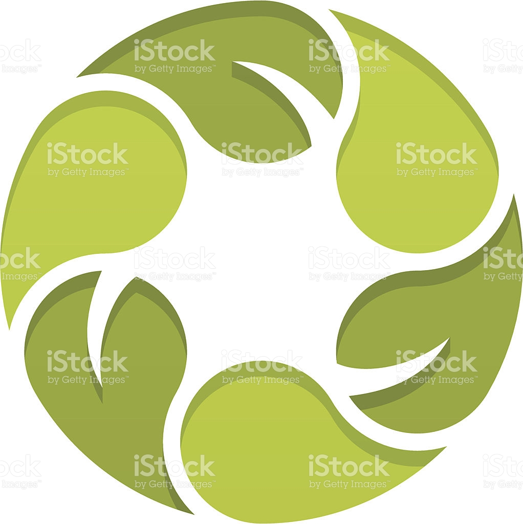 Green Leaf Spiral stock vector art 179163538.
