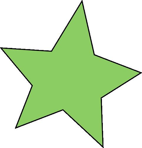 Green Star Clip Art.