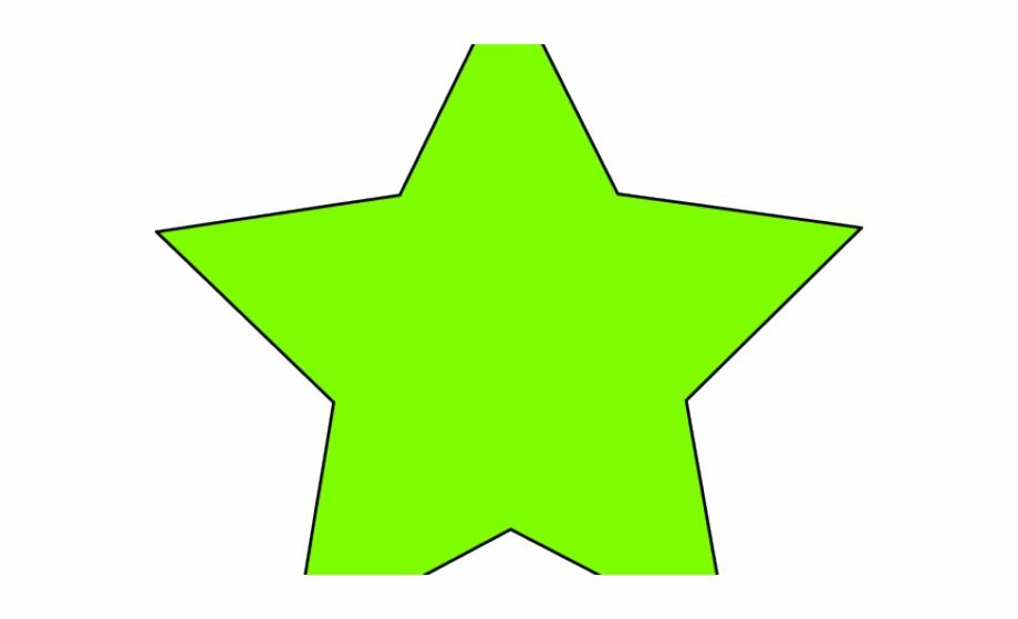 Neon Clipart Green Star.