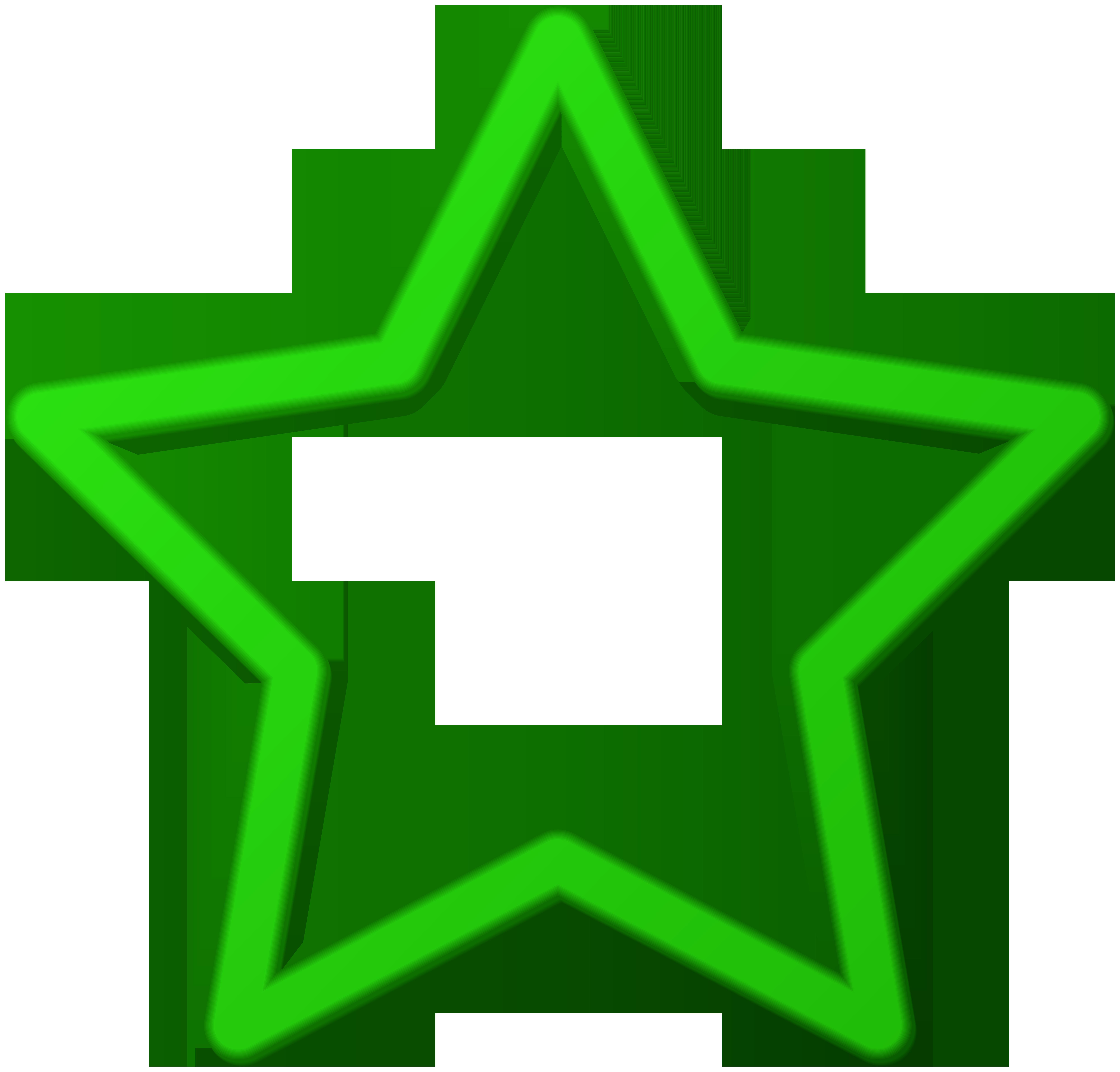 Green Star Border Frame PNG Clip Art.