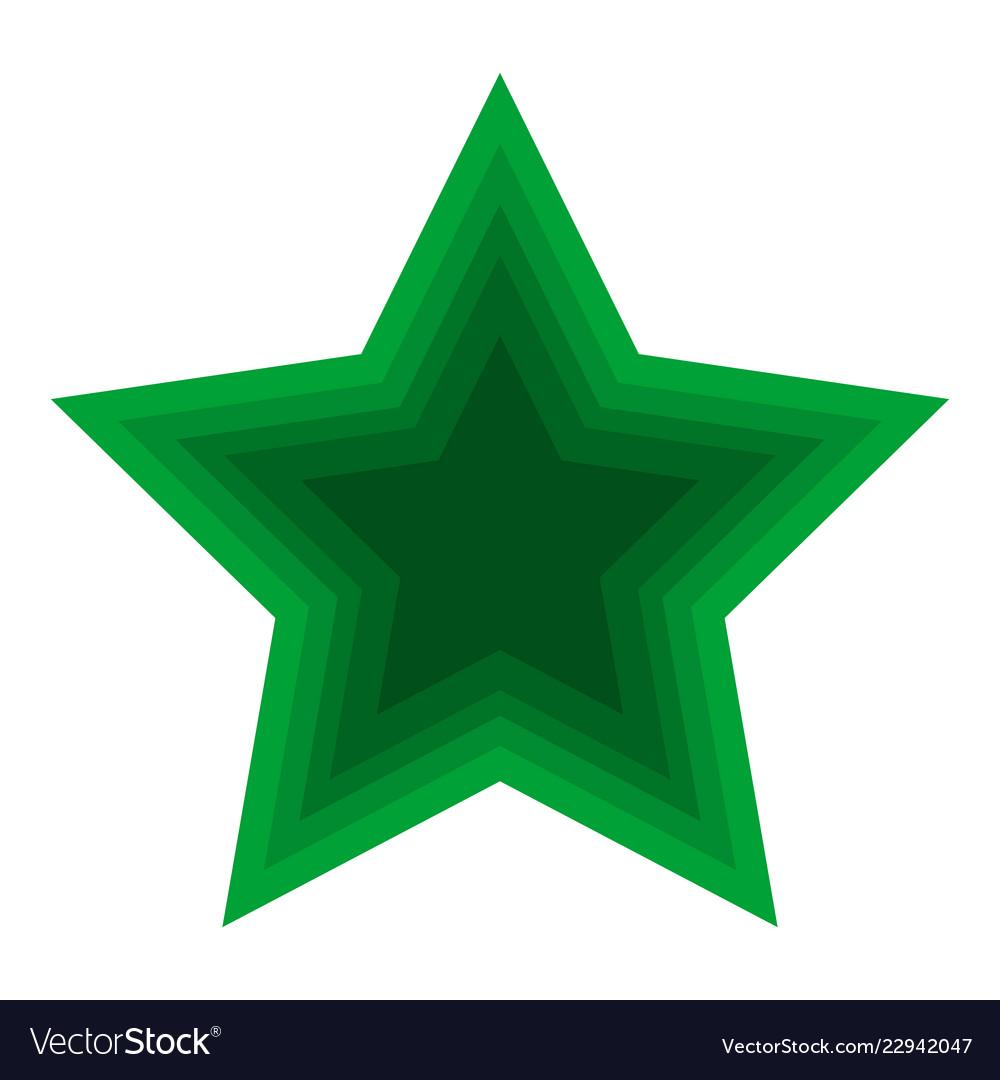 Christmas green star icon symbol design christmas.