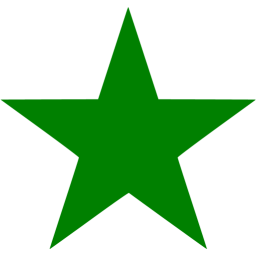 Green star icon.
