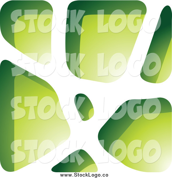 Vector Clipart of a Green Stone Logo by cidepix.
