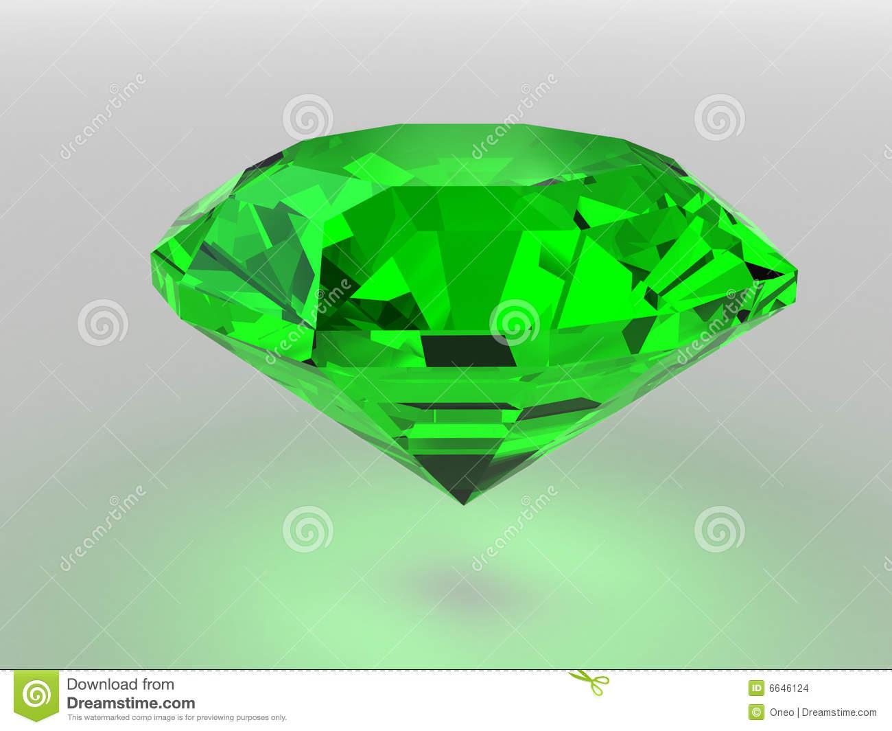 Green gemstones stones clipart.