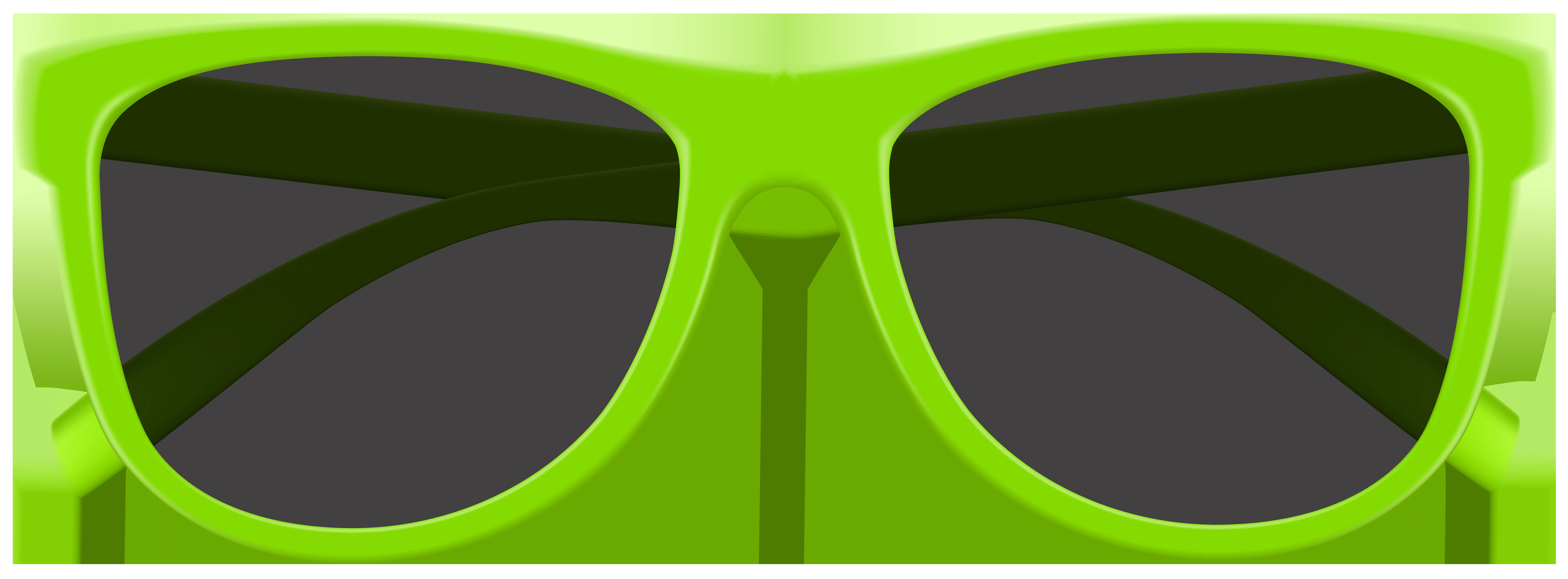 Green Sunglasses PNG Clip Art Image.