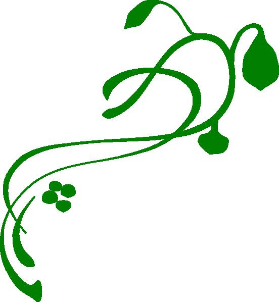 Green Swirl Vine Clip Art.