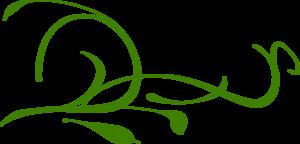Green Leaves Swirl Clip Art at Clker.com.