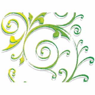 Green Swirls Clipart Microsoft Word.