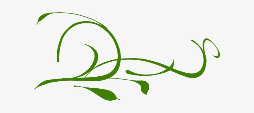 Green Leaves Swirl Clip Art At Clker.