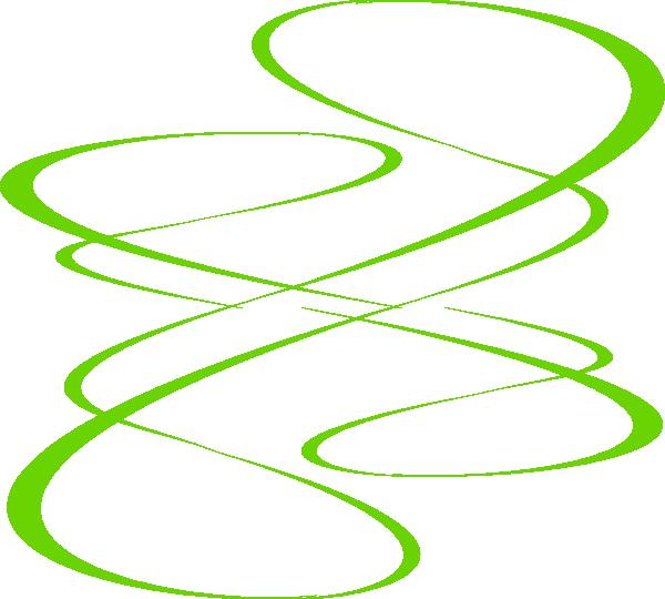 Green Swirls Clipart.