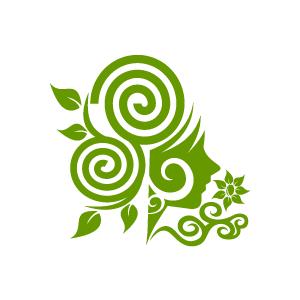 Swirly Green Cliparts.