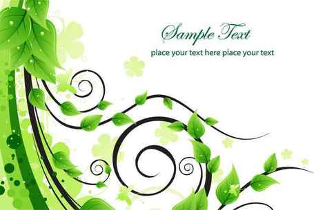 Free Green Floral Swirl Clipart and Vector Graphics.