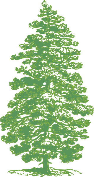 Tall trees clipart silhouette.