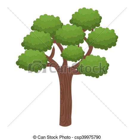 EPS Vectors of green tall tree.