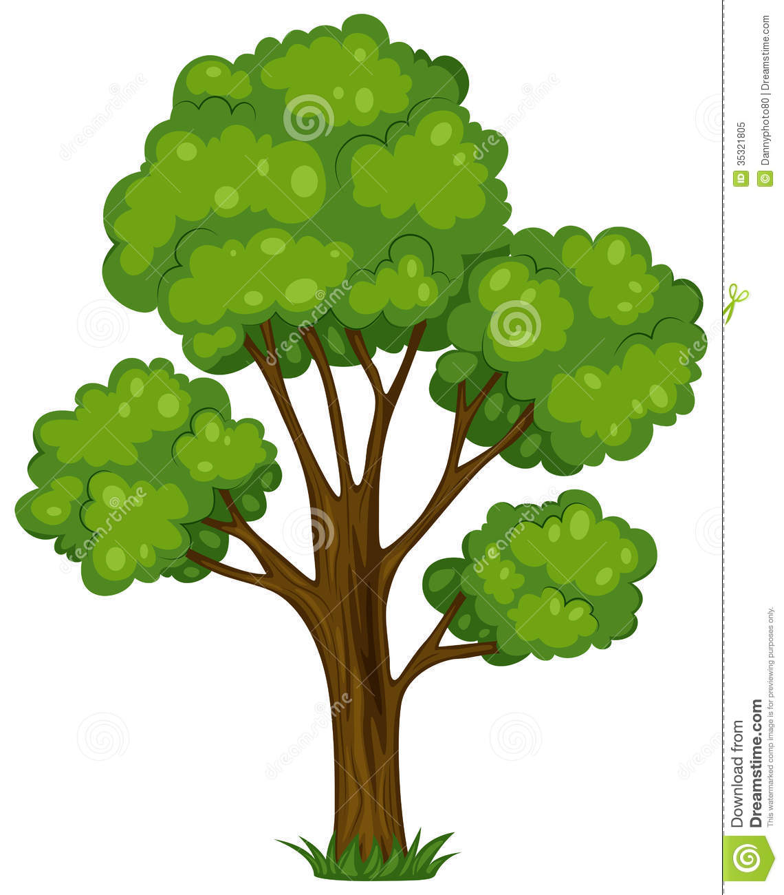 Tall Oak Clipart.