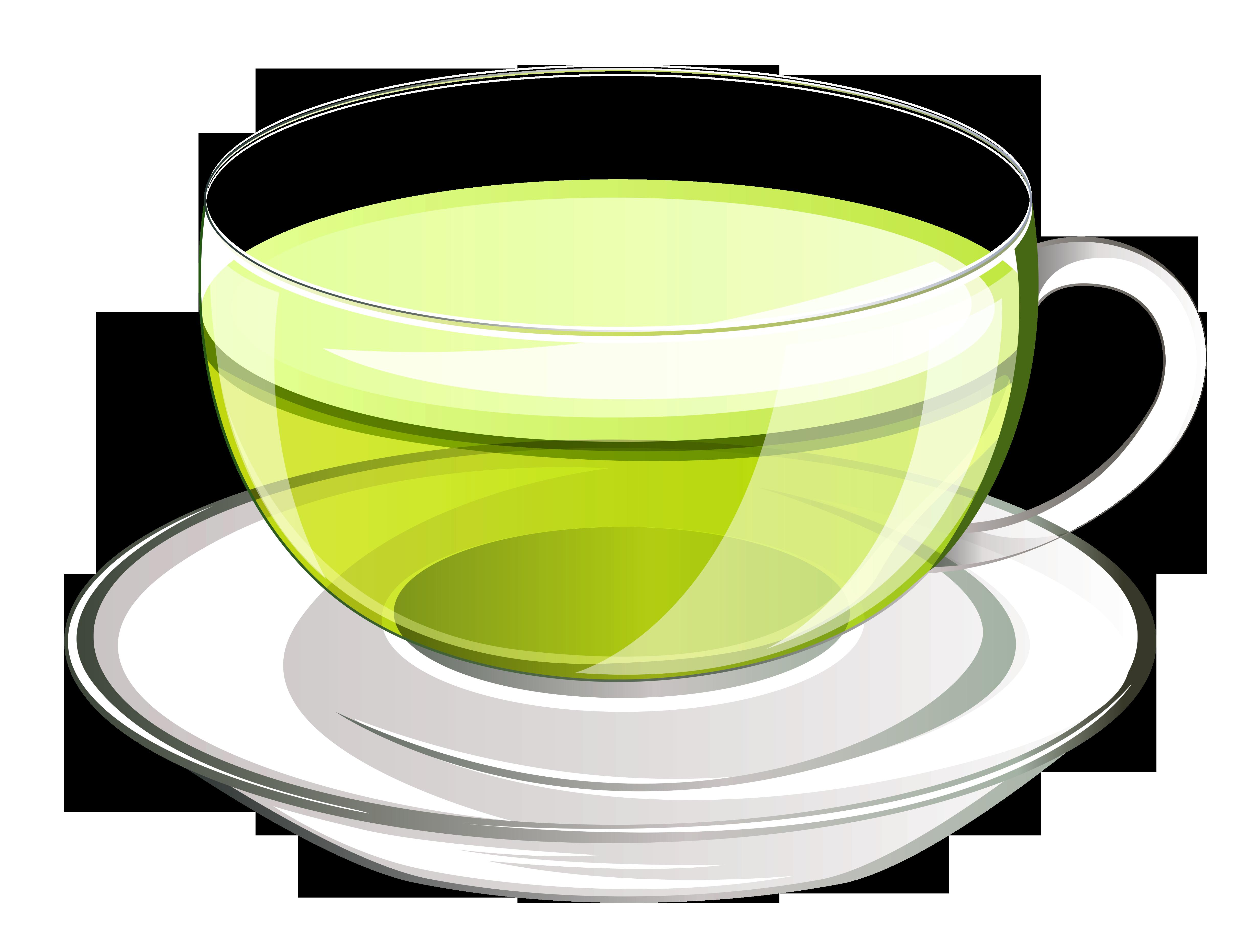 Green tea clipart.