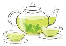 Green Tea Clip Art.
