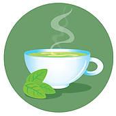 Green Tea Cup Clip Art.