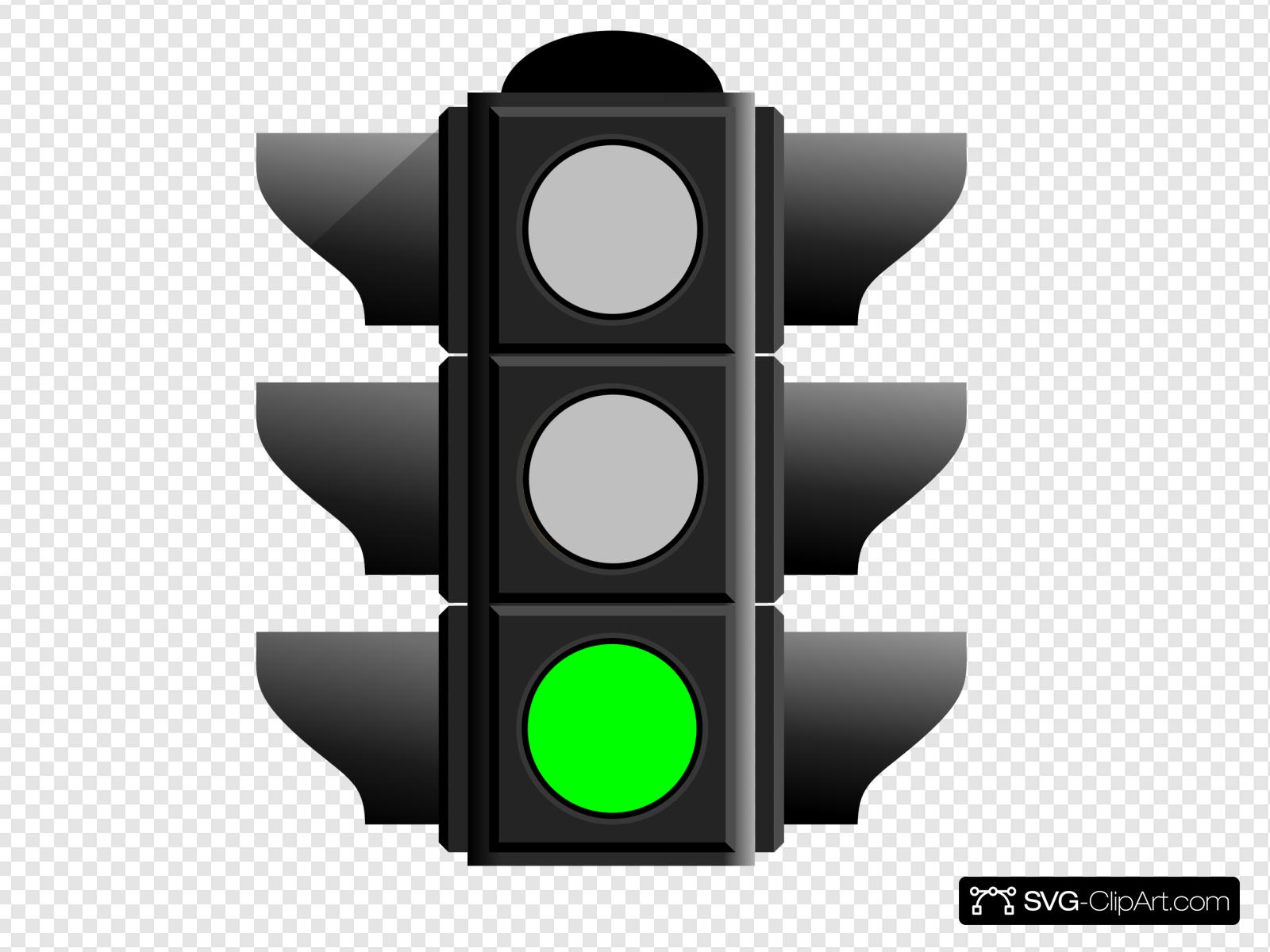 Green Traffic Light Clip art, Icon and SVG.