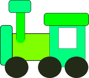 Green Train Clipart.