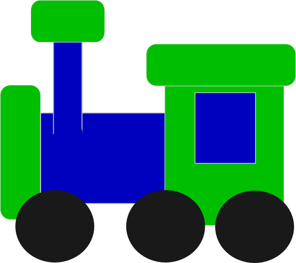 Blue And Green Train Clip Art at Clker.com.