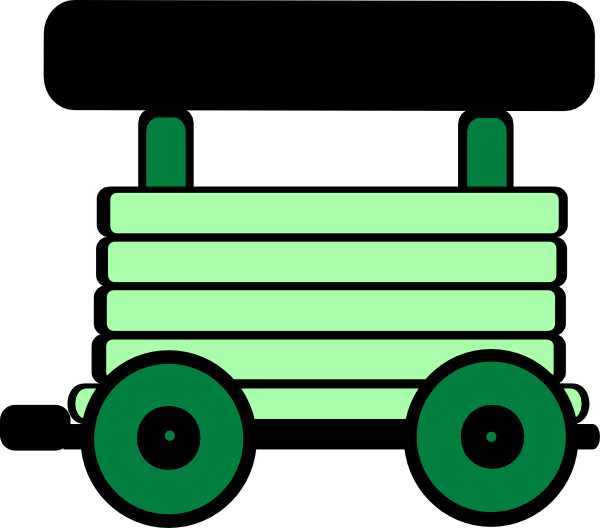 Loco Train Carriage Green Clip Art at Clker.com.