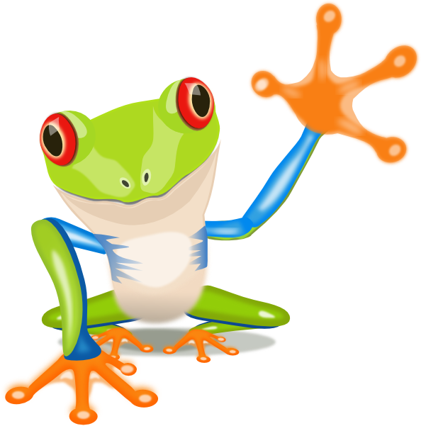 Green tree frog clipart.
