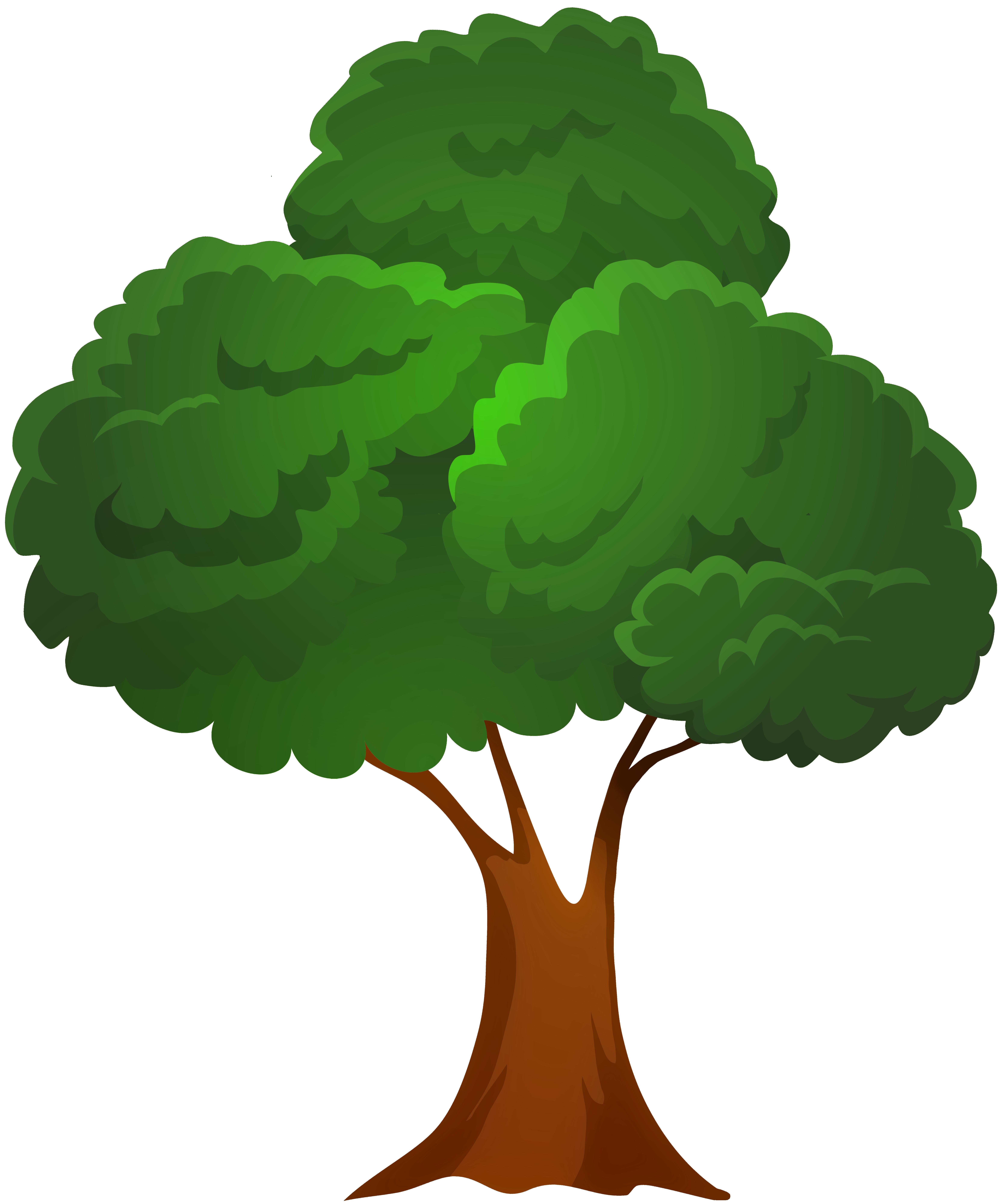 Classic Green Tree PNG Clip Art.