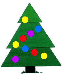 Triangle tree clipart.