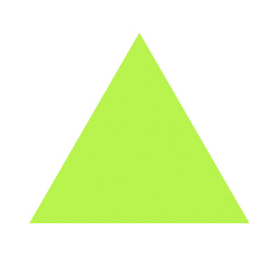 Green triangle clipart.