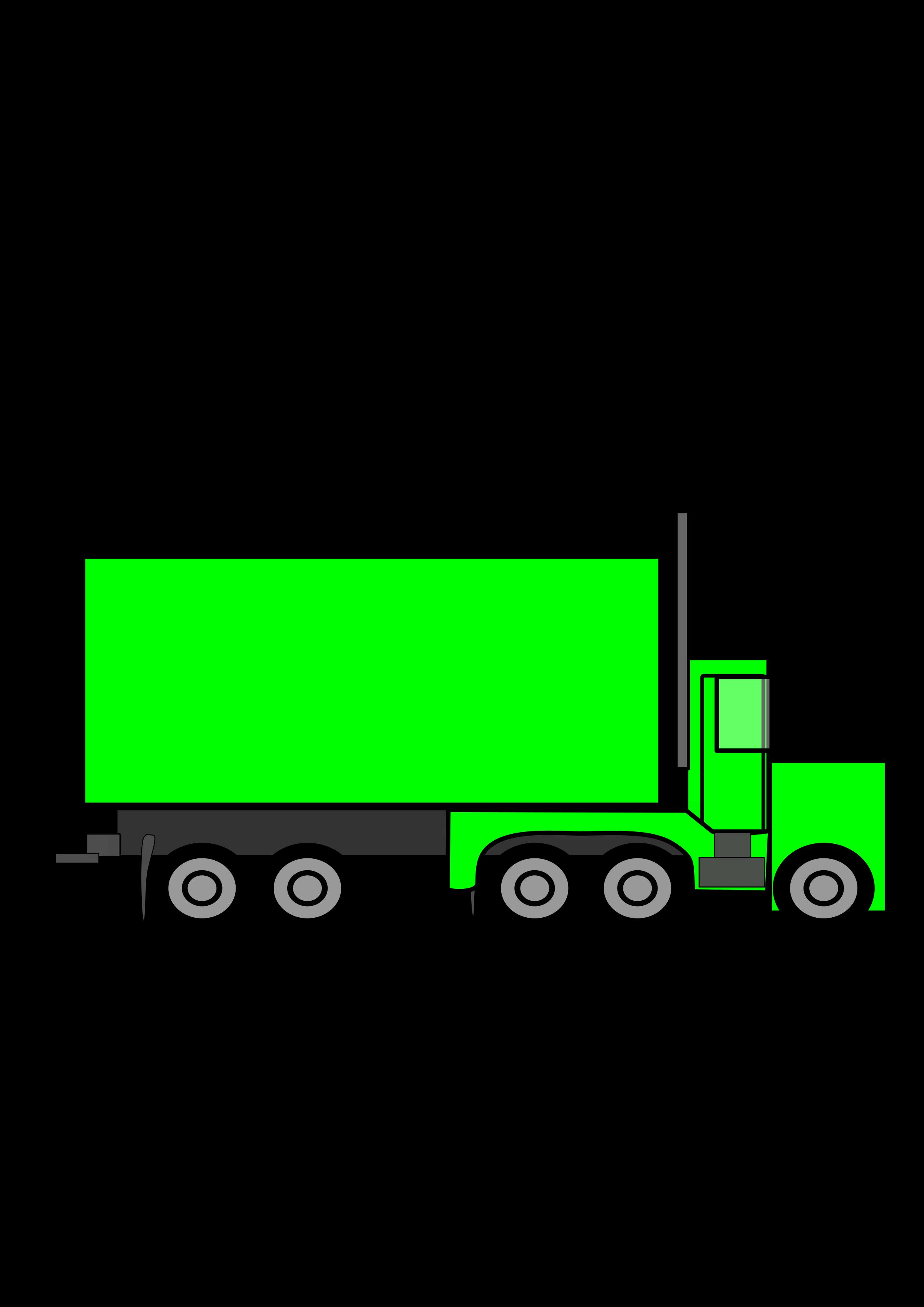 Green Truck Clipart.