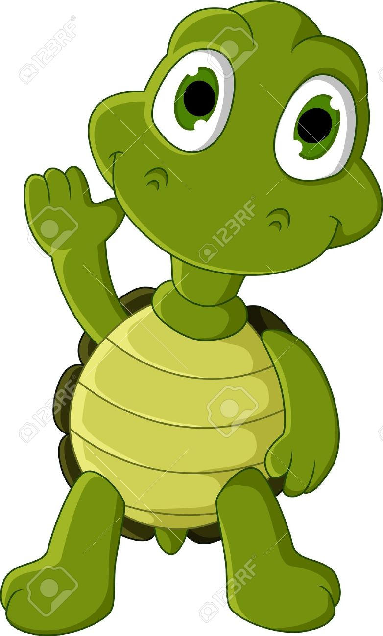 Cute Green Turtle Cartoon Royalty Free Cliparts, Vectors, And.