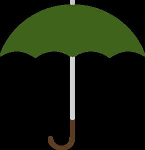Dark Green Umbrella W Brown J Handle Clip Art at Clker.com.