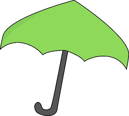 Green Umbrella Clip Art.