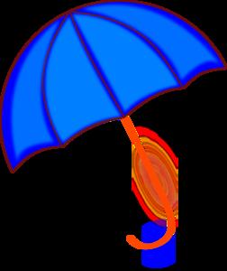 Green cartoon umbrella clipart 2 image #11446.