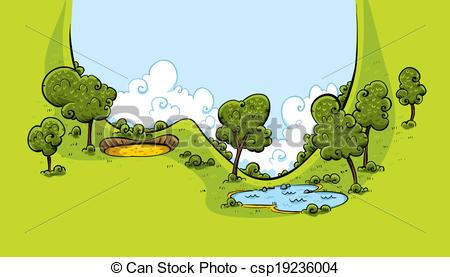 Vector Clipart of Golf Course Valley.