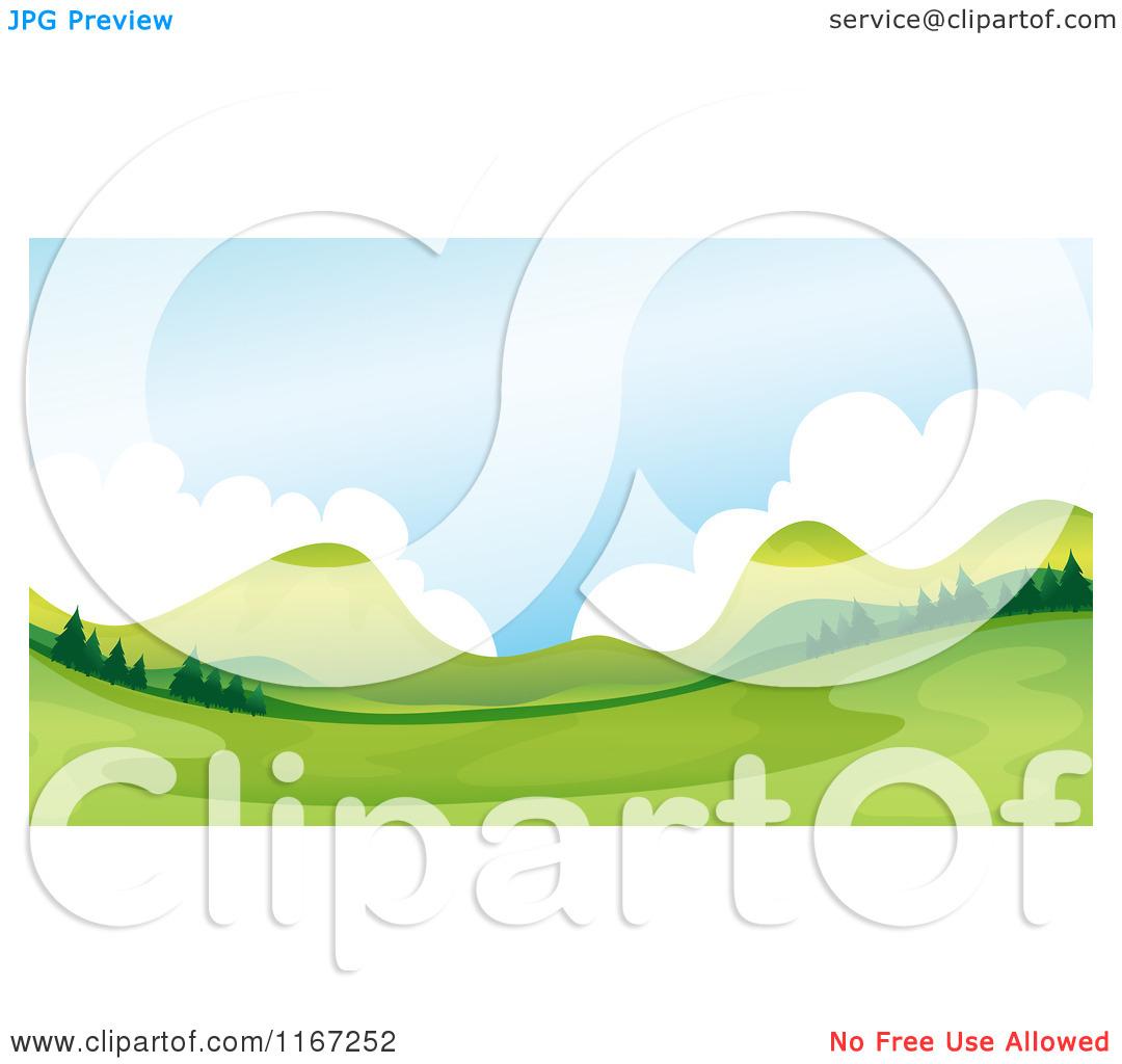 Cartoon of a Green Valley.