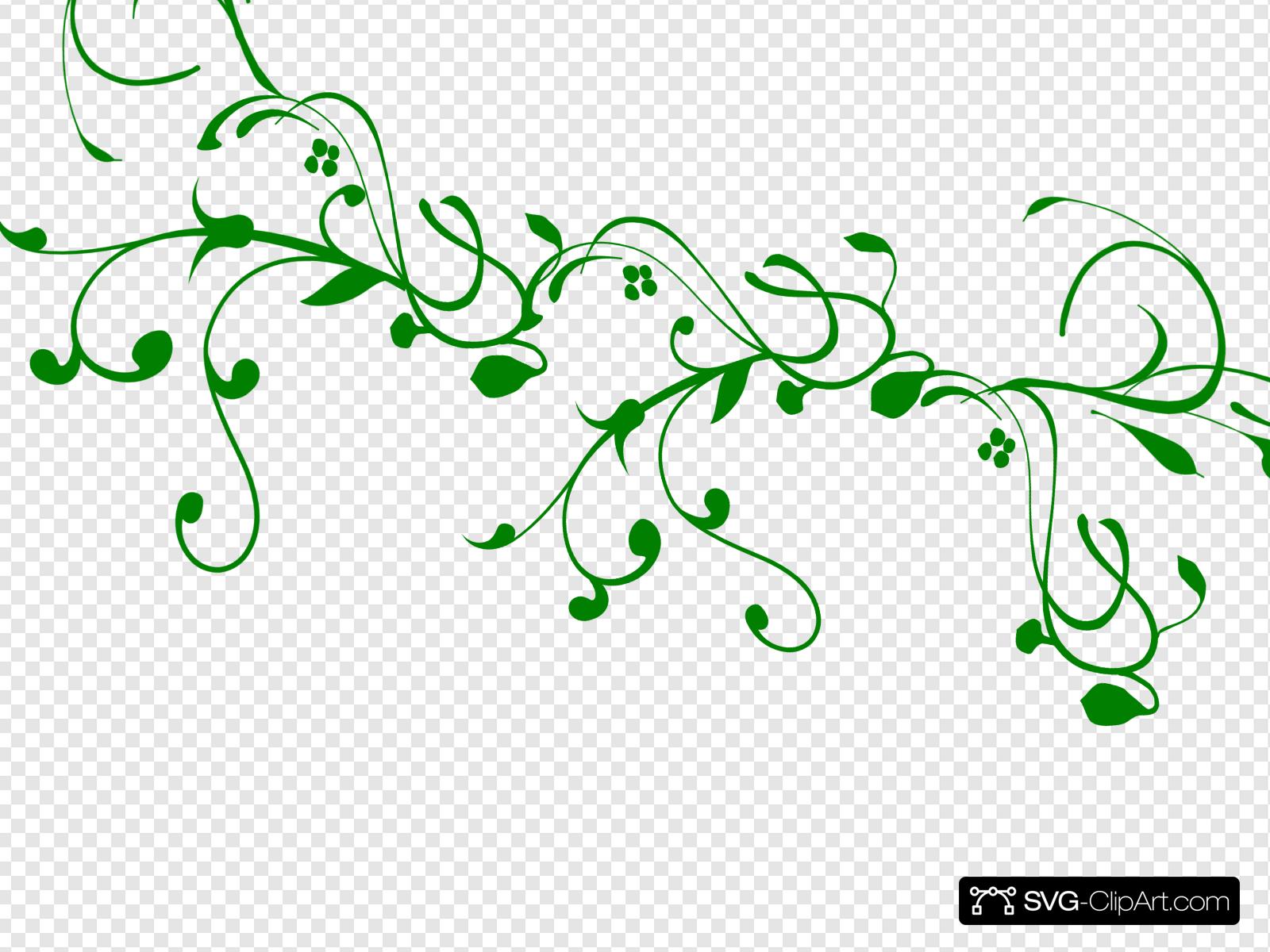 Green Vine Clip art, Icon and SVG.