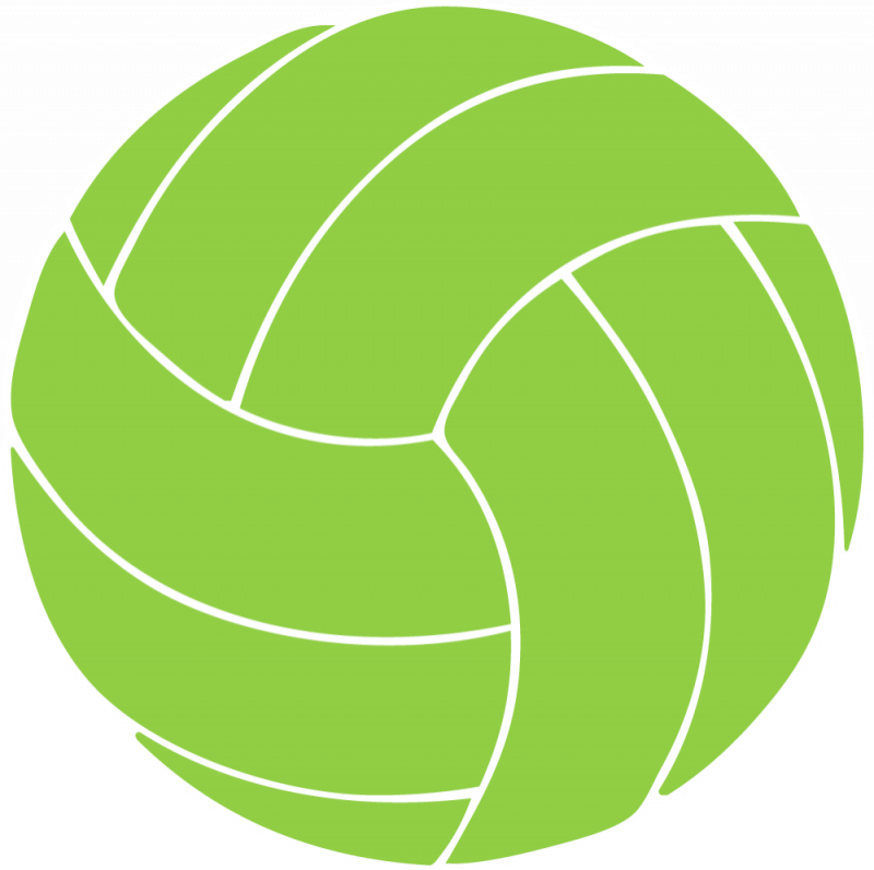 Green clipart volleyball, Green volleyball Transparent FREE.