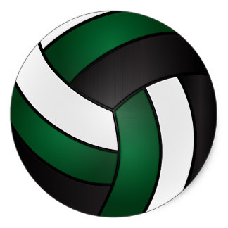 Black Volleyball Clipart.