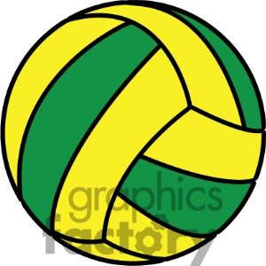 Green Volleyball Clipart.