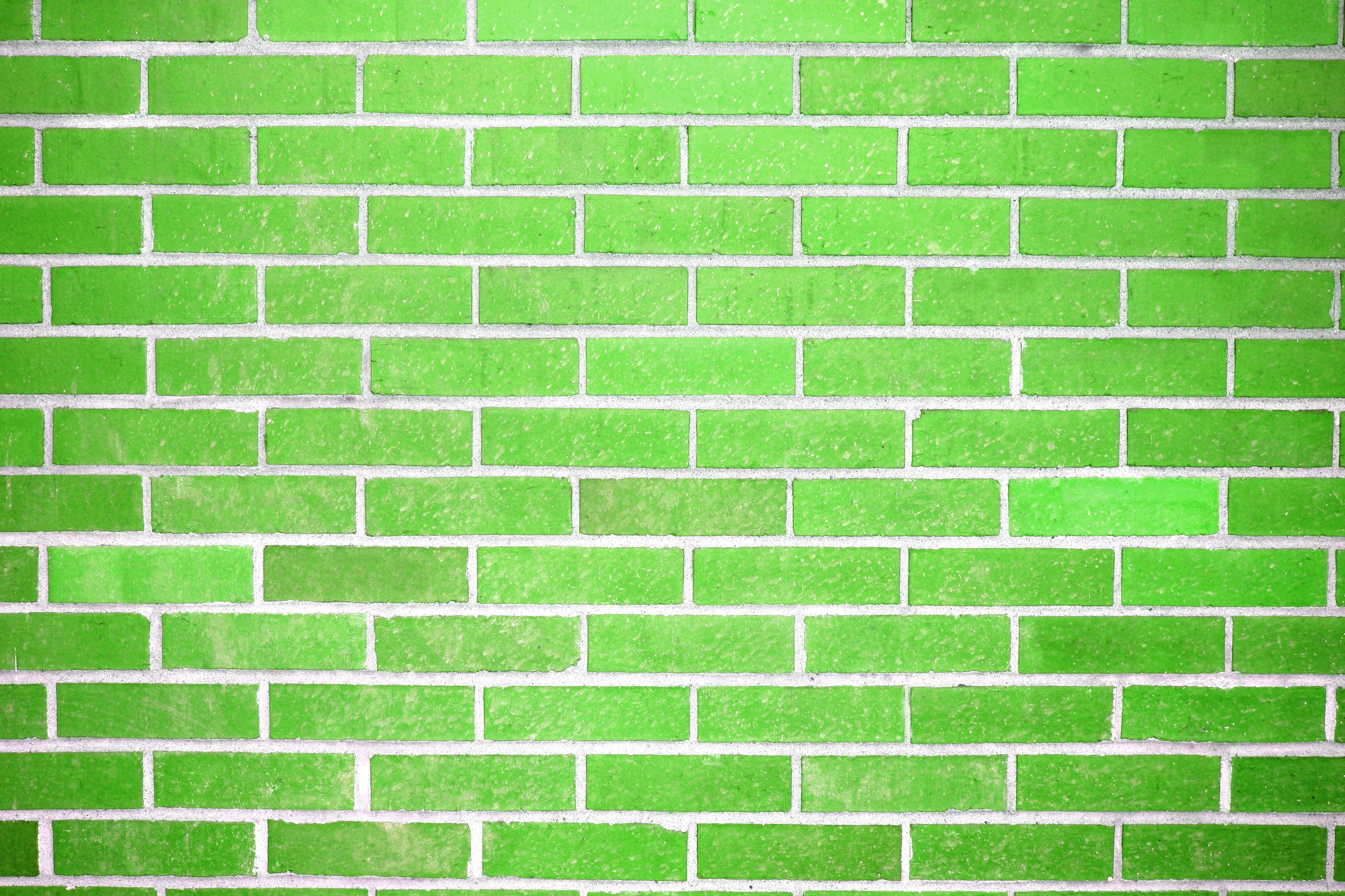 Lime Green Brick Wall Texture Picture.