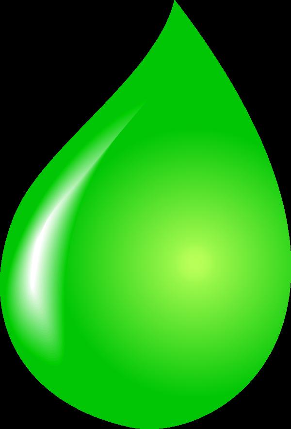 Green water drop clipart.
