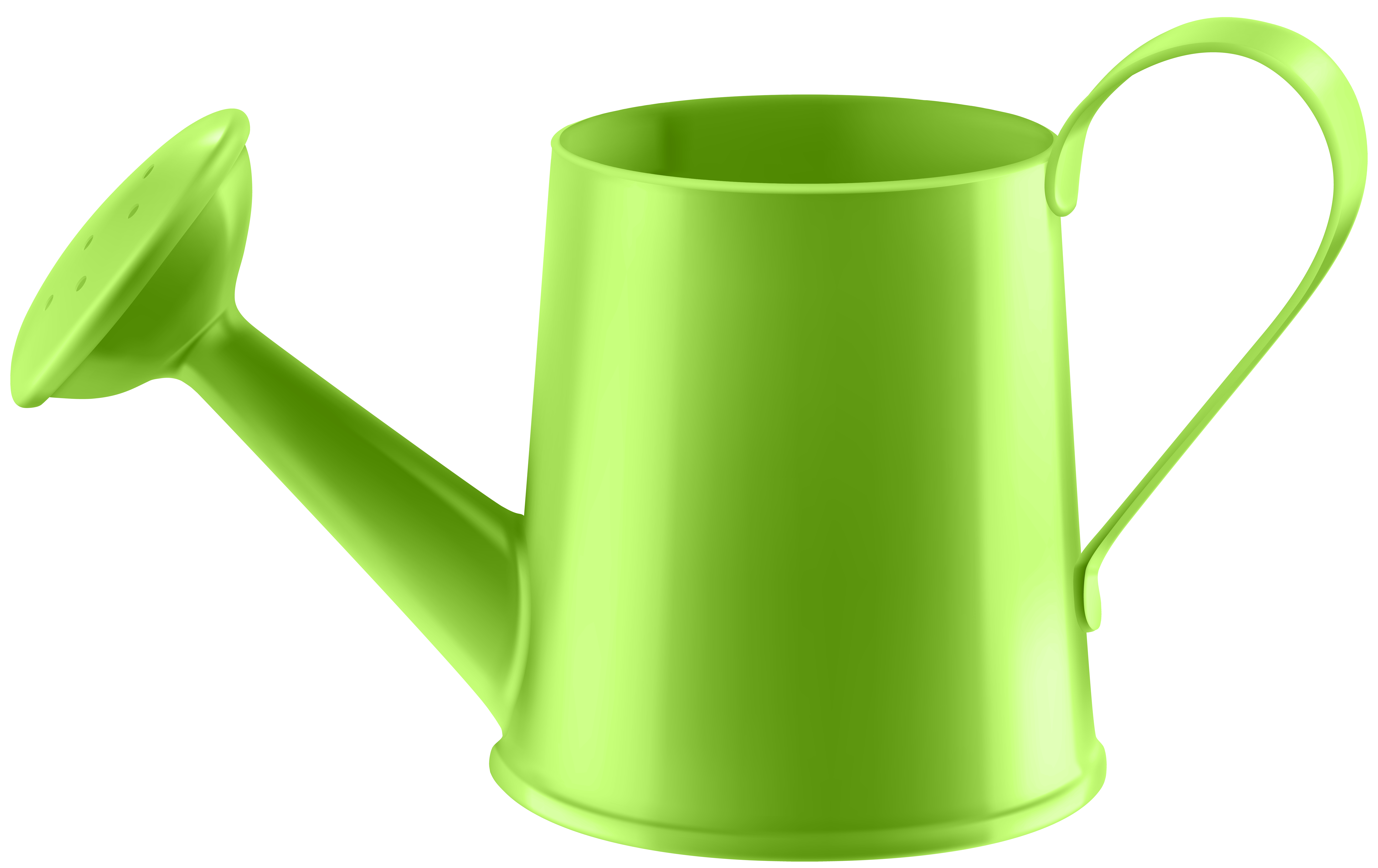 Green Water Can Transparent PNG Clip Art.