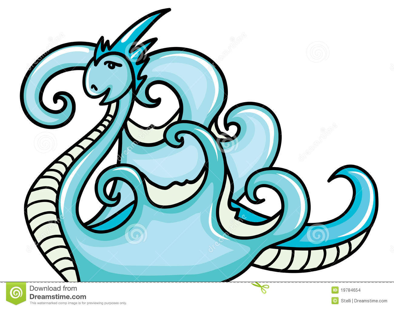Clipart water dragon.