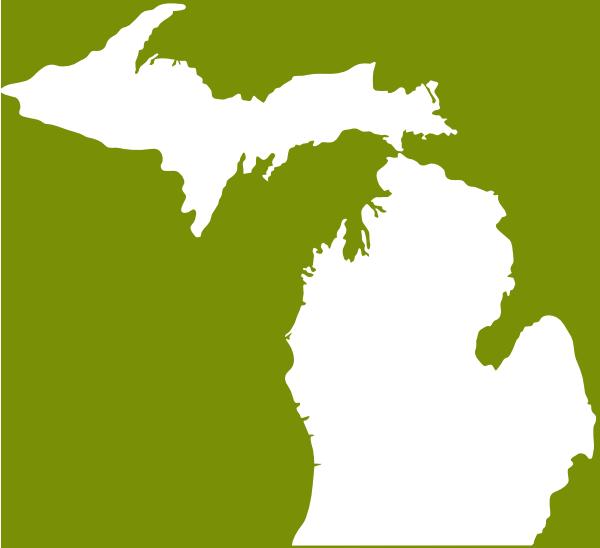 Michigan Green White Clip Art at Clker.com.