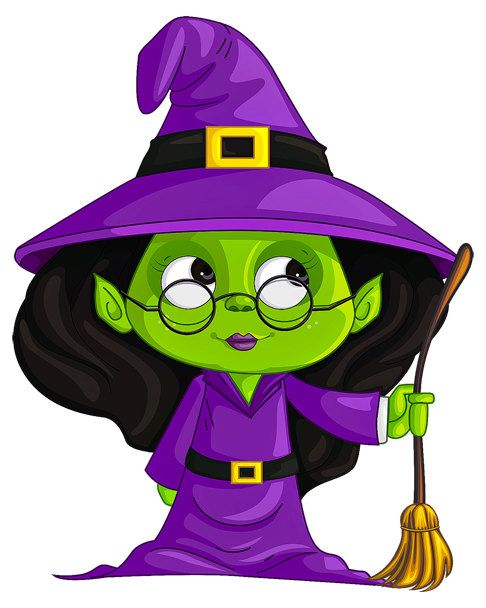 Witch Image, Halloween Witch Image, Green Witch Image,Large Teen.